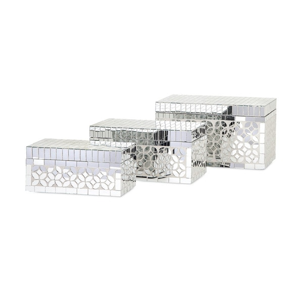 Mandiline Mirror Mosaic Boxes (Set of 3)