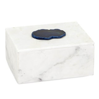 Piper Marble Box with Agate
