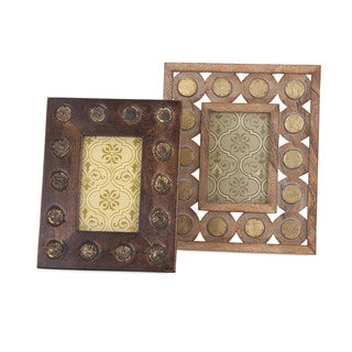 Frona Wood Photo Frames (Set of 2)