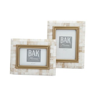 Beth Kushnick Bone Photo Frames (Set of 2)