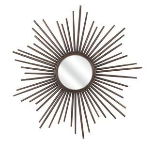 Berrak Starburst Mirror - Brown