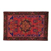 Full Pile Persian Nahavand Hand-Knotted Oriental Rug - 4'9 x 7'4