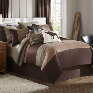 Stowe Creek Brown Green 4-piece Comforter Set