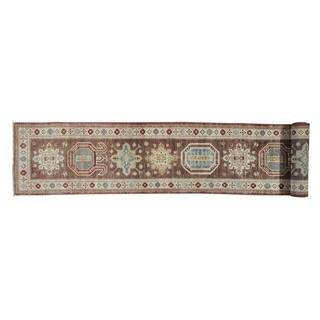 Hand-Knotted Super Kazak XL Runner Oriental Rug (2'7 x 20'6)