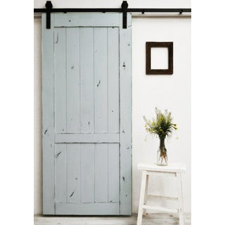 Dogberry Country Vintage 36 x 82 inch Barn Door with Sliding Hardware System