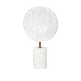 Peta Large Marble Medallion on Stand