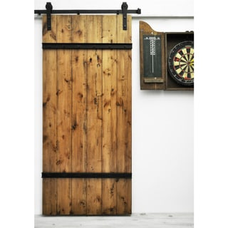 Dogberry Drawbridge 36 x 82 inch Barn Door with Sliding Hardware System