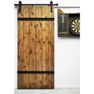 Dogberry Drawbridge Barn Door with Sliding Hardware System|https://ak1.ostkcdn.com/images/products/10559976/P17638238.jpg?impolicy=medium