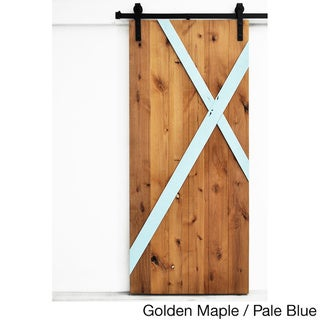 Dogberry Mod-X 36 x 82 inch Barn Door with Sliding Hardware System
