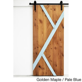 Dogberry Mod-Y 36 x 82 inch Barn Door with Sliding Hardware System