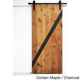 Dogberry Mod-Z 36 x 82 inch Barn Door with Sliding Hardware System