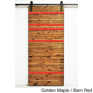 Dogberry Line 'Em Up 36 x 82 inch Barn Door with Sliding Hardware System