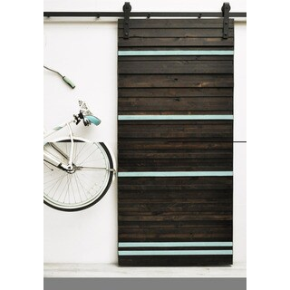 Dogberry Line 'Em Up Knotty Alder Wood 96-inch Barn Door