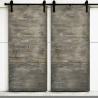 Dogberry Modern Slab 82-inch Double Barn
