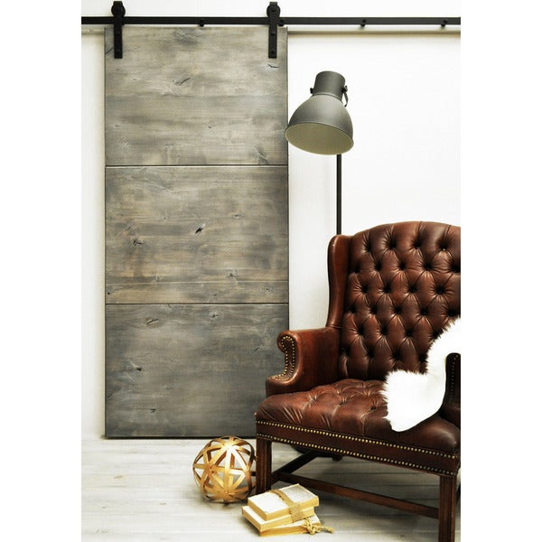 Shop Dogberry Modern Slab 36 X 82 Inch Barn Door With Sliding