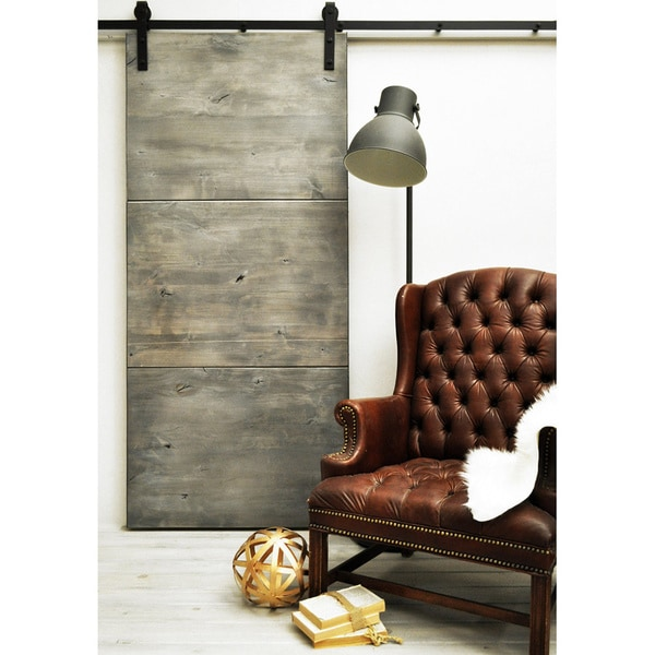 Shop Dogberry Modern Slab Solid Wood 96 Inch Barn Door