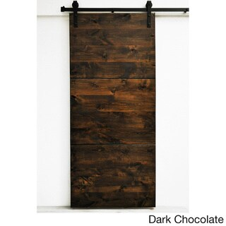 Dogberry Modern Slab 96-inch Barn Door