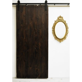 Dogberry Tuscan Villa 36 x 82 inch Barn Door with Sliding Hardware System