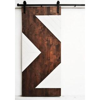 Dogberry Zig Zag 82-inch Barn Door