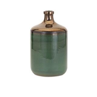 Melenia Medium Green and Bronze Vase
