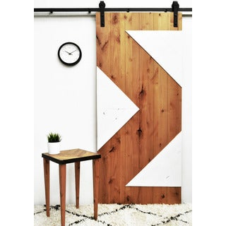 Dogberry Zig Zag 36 x 82 inch Barn Door with Sliding Hardware System