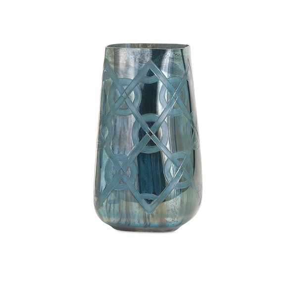 Piper Blue Small Etched Vase Free Shipping On Orders Over 45