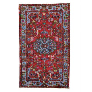 Full Pile Persian Nahavand Hand-Knotted Oriental Rug (5' x 8'1)