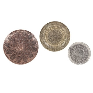 Vida Embossed Oversized Wall Chargers (Set of 3)