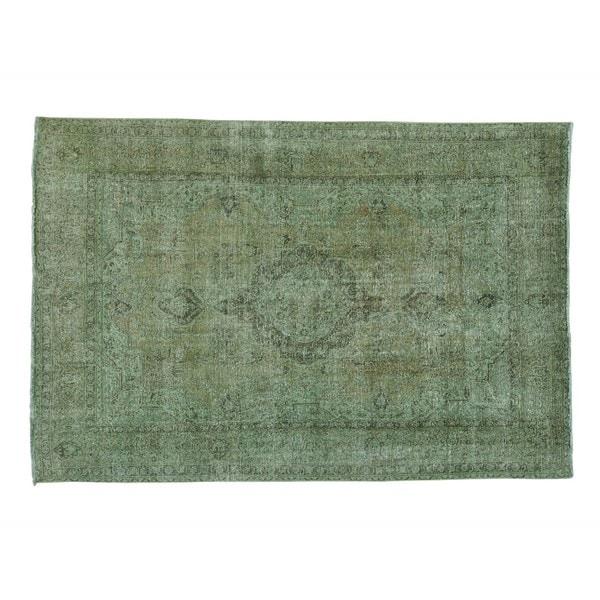 Worn Down Overdyed Persian Tabriz Handmade Oriental Rug (7'2 x 10'8)