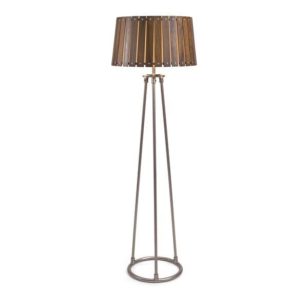 Acacia Wood Shade Floor Lamp