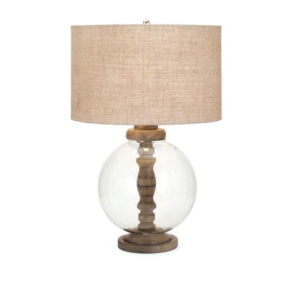 Mahin Wood and Glass Lamp