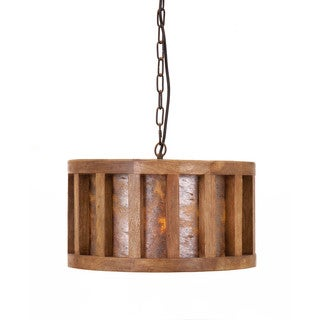Reagan Wood and Stone Pendant Light  sc 1 st  Overstock.com & Wood Ceiling Lights For Less | Overstock.com azcodes.com