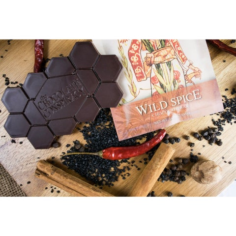 The Chocolate Conspiracy Wild Spice Bars (Pack of 2)