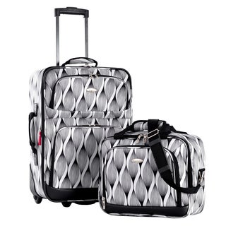 Olympia Let's Travel Spiral 2-piece Expandable Carry-on Luggage Set