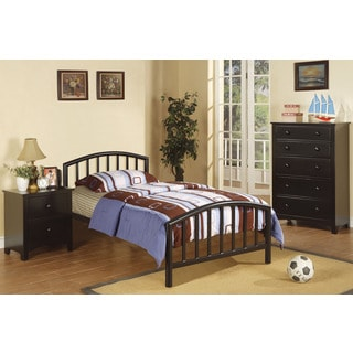 Hirske Black 3-piece Youth Bedroom Set