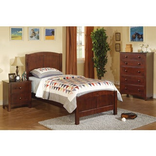 Hnivan 3-piece Youth Bedroom Set (Option: Black)