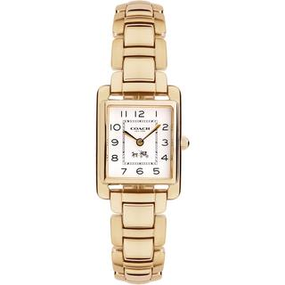 Coach Women's 14502023 Page Rectangle Goldtone Stainless Steel Bracelet Watch