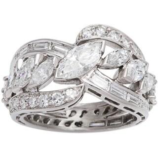 Platinum 4 1/10ct TDW Diamond Estate Band Ring (G-H, SI1-SI2) (Size 6)