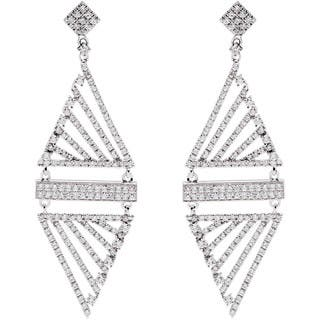 14k White Gold 2ct TDW Pave Diamond Dangling Estate Earrings (G-H, SI1-SI2)|https://ak1.ostkcdn.com/images/products/10560554/P17638769.jpg?impolicy=medium