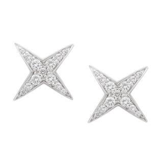 18k White Gold 1/3ct TDW Diamond Star String Estate Stud Earrings by Mauboussin (G-H, VS1-VS2)|https://ak1.ostkcdn.com/images/products/10560582/P17638795.jpg?impolicy=medium