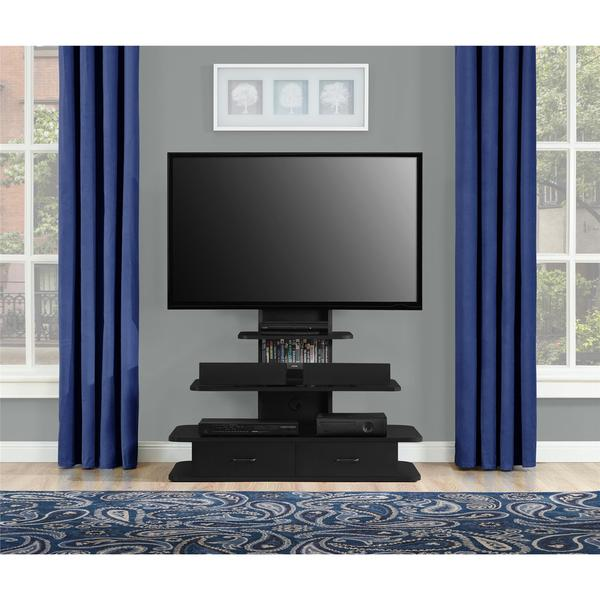 avenue greene crossfield 70 inch tv stand with mount and drawers free shipping today. Black Bedroom Furniture Sets. Home Design Ideas