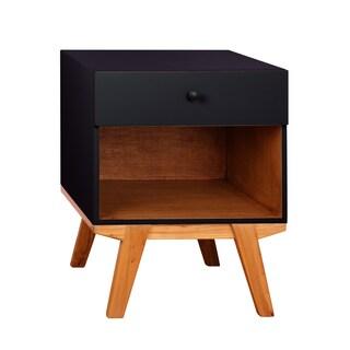Porthos Home Clementine 1-drawer Nightstand (Option: Black - Black Finish)