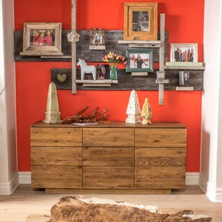 Knot Oak Wood Sideboard Cabinet by Christopher Knight Home
