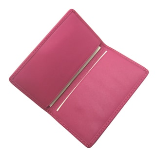 Royce Leather Wildberry Pink Genuine Leather Business Card Case