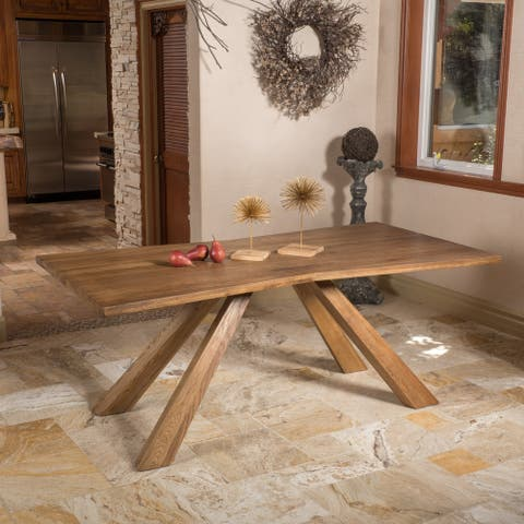 Montaverde Oak Wood Dining Table (ONLY) by Christopher Knight Home