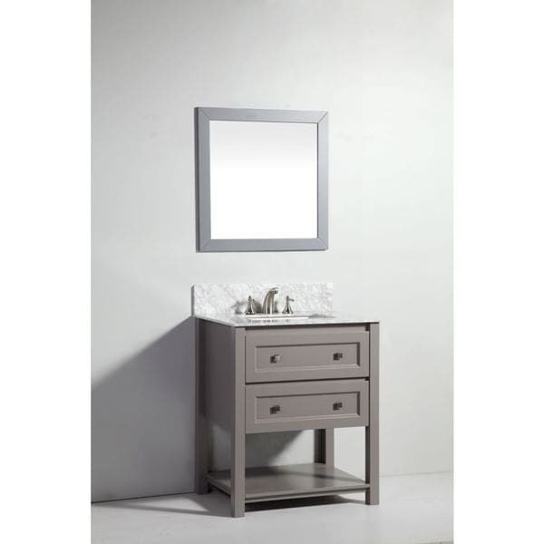 Legion furniture 30 inch light grey solid wood sink vanity for Legion furniture 30 inch bathroom vanity