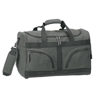 Goodhope 20-inch Grey Canvas Weekend Carry-on Duffel Bag