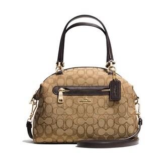 Coach Prairie Khaki Signature Satchel Handbag