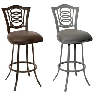 Essex 26-inch Transitional Barstool In Coffee Leatherette