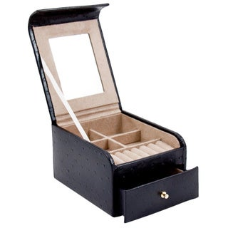 Bey Berk Two-level Black Jewelry Case